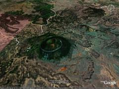 Capulin Volcano, Union County, New Mexico - aerial photograph
