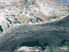 Sam Ford Fjord, Baffin Island - aerial photograph