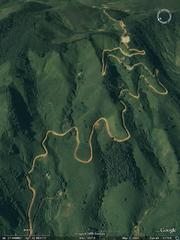 Mountain path - aerial photograph