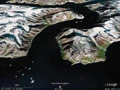 Qioqe Point, West Greenland - aerial photograph