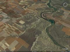 Missouri River, Chouteau County, MT - aerial photograph