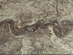 Powder River, Johnson County, WY - aerial photograph