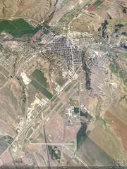 Lewiston, MT - aerial photograph