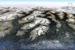 Cape Jewel, East Greenland - aerial photograph
