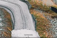 Guldfaxe Glacier, East Greenland - aerial photograph